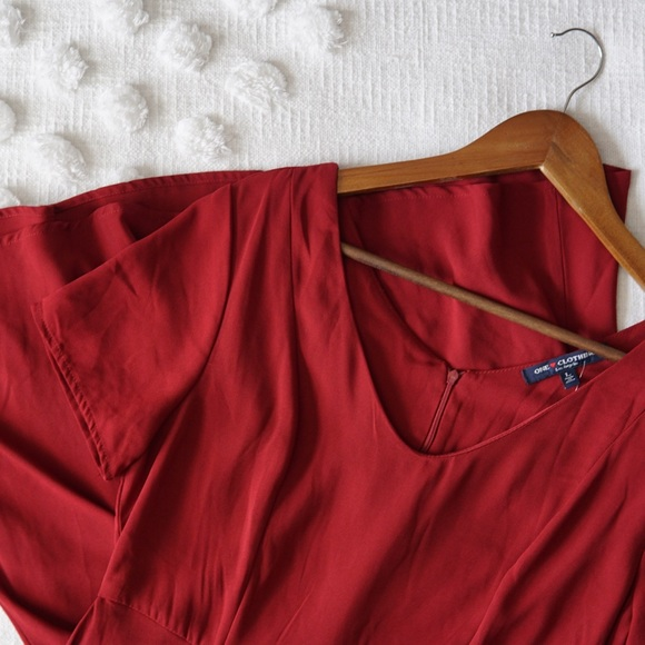 one clothing Dresses & Skirts - One Clothing Red Fit and Flare Mini Dress! NWT!